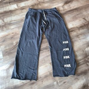 PINK// Dark Gray Sweats